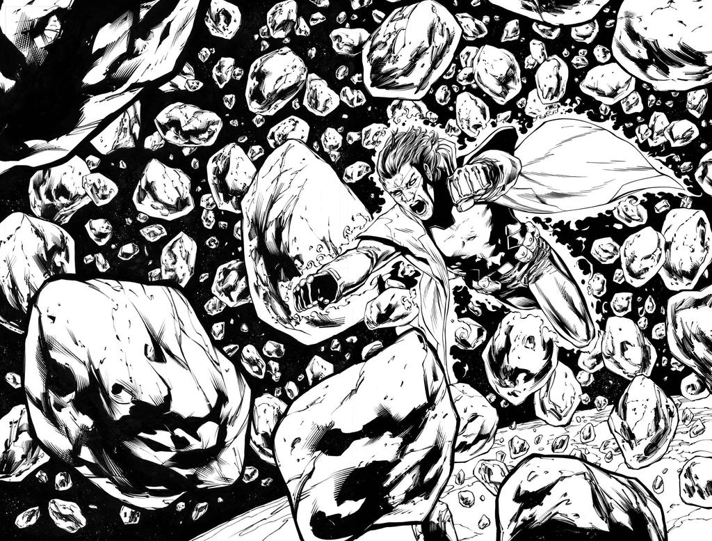 Green Lantern 42 double page spread by MarkIrwin