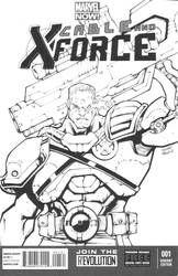Cable/X-Force sketch cover inks by MarkIrwin