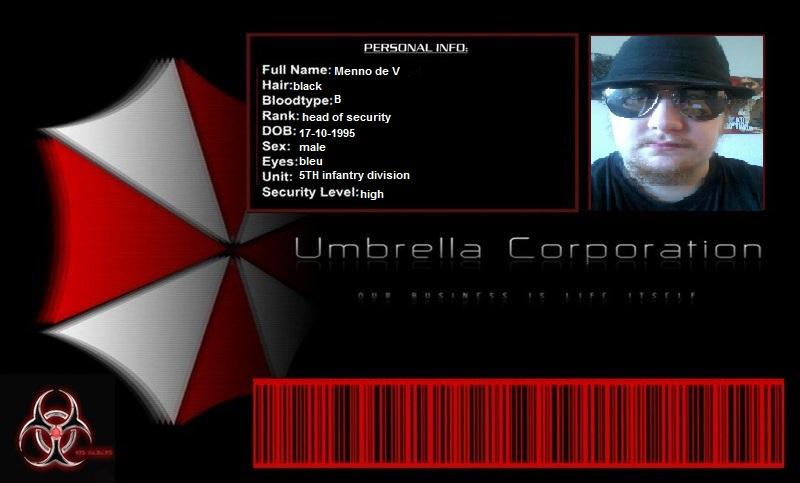 My Umbrella Keycard by theunknownemo