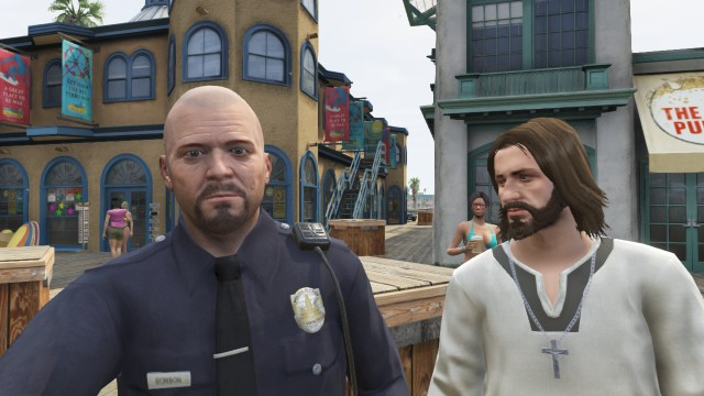officer de santa whit jezus XD by theunknownemo