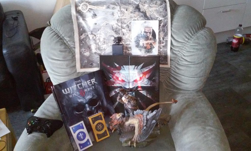 gat this yesterday in the mail the witcher 3 by theunknownemo
