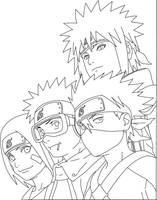 Half Artbook Naruto Lineart by KenshiUchiha