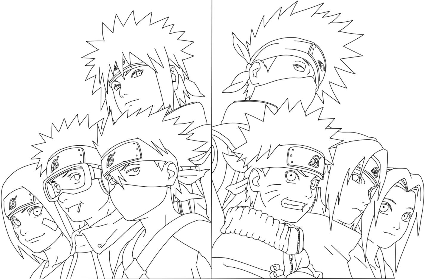 Atractivo Naruto Shippuden Minato Para Colorear Fotos - Enmarcado ...