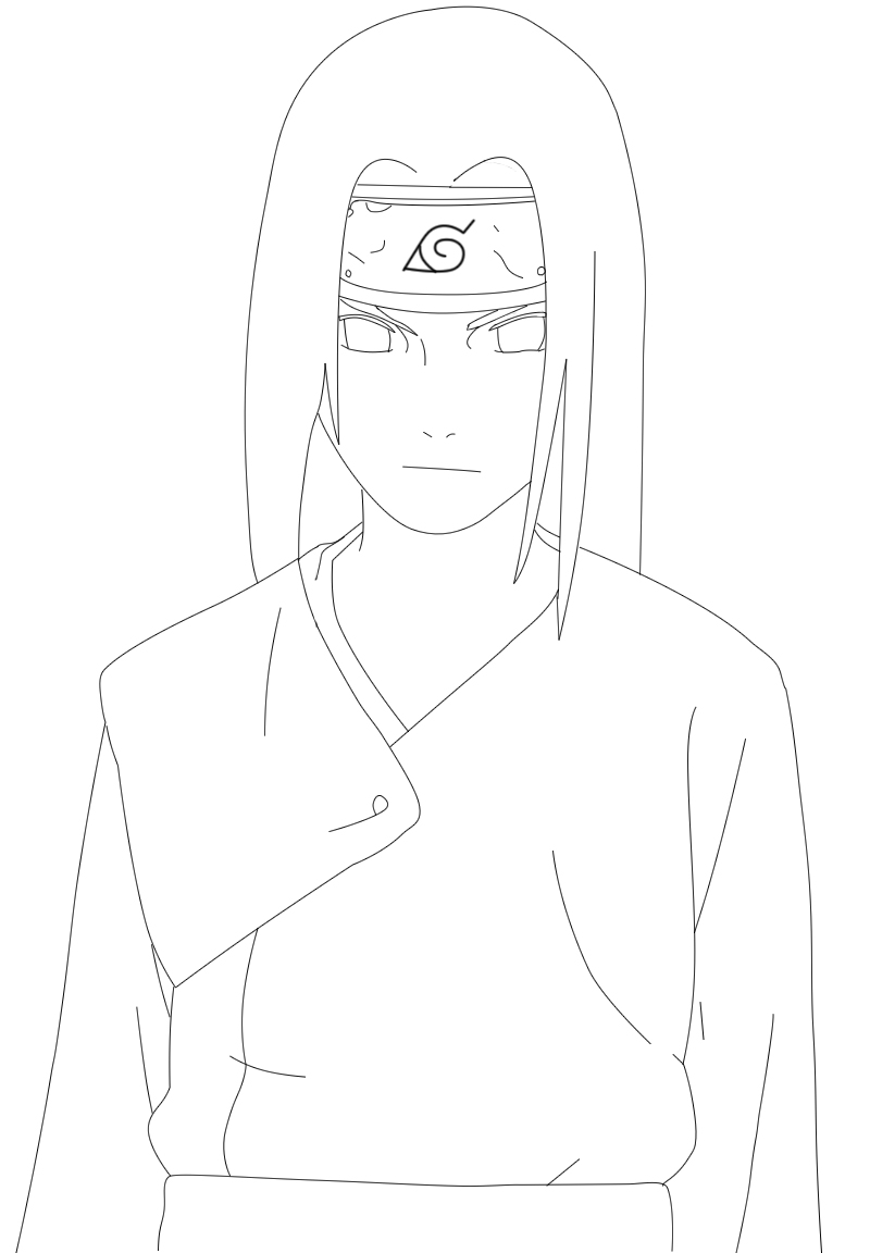 Easy D Line Drawings : Neji lineart by kenshiuchiha on deviantart