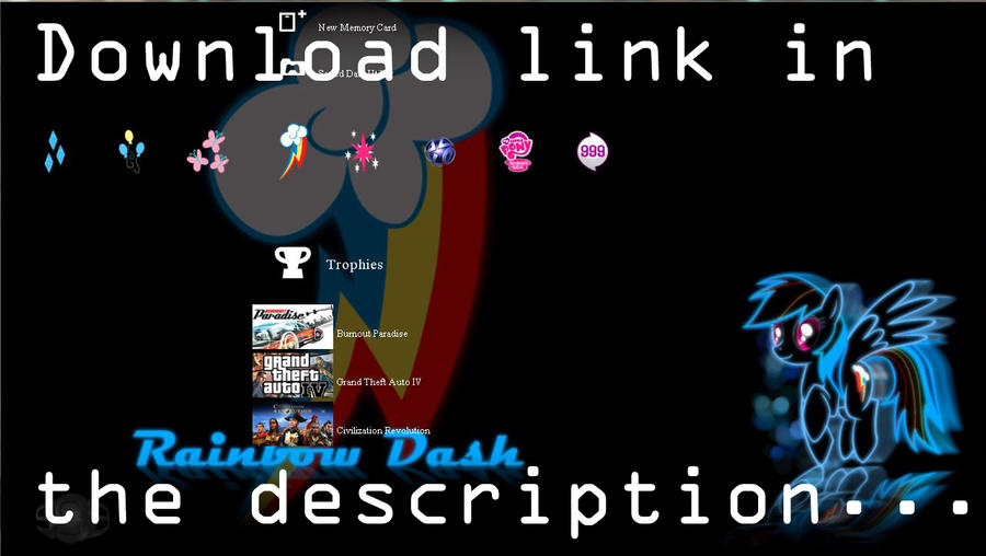 PS3 Pony Theme by InternationalTCK on DeviantArt