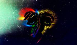 Spitfire-Rainbow Dash Flare Wallpaper