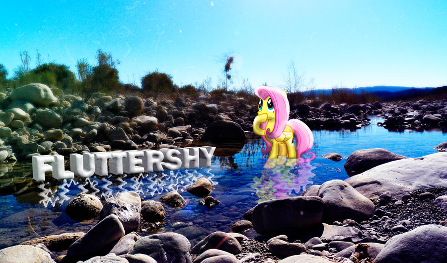 Fluttershy Nature Wallpaper by InternationalTCK