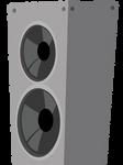 MLP speaker tower