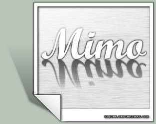 MiMo - metal photo logo v2 by MiMo86