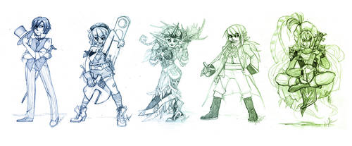 May 2010 Sketch Commissions