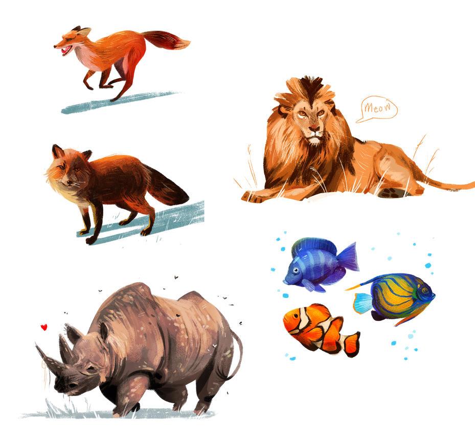 Animal Studies by neomonki
