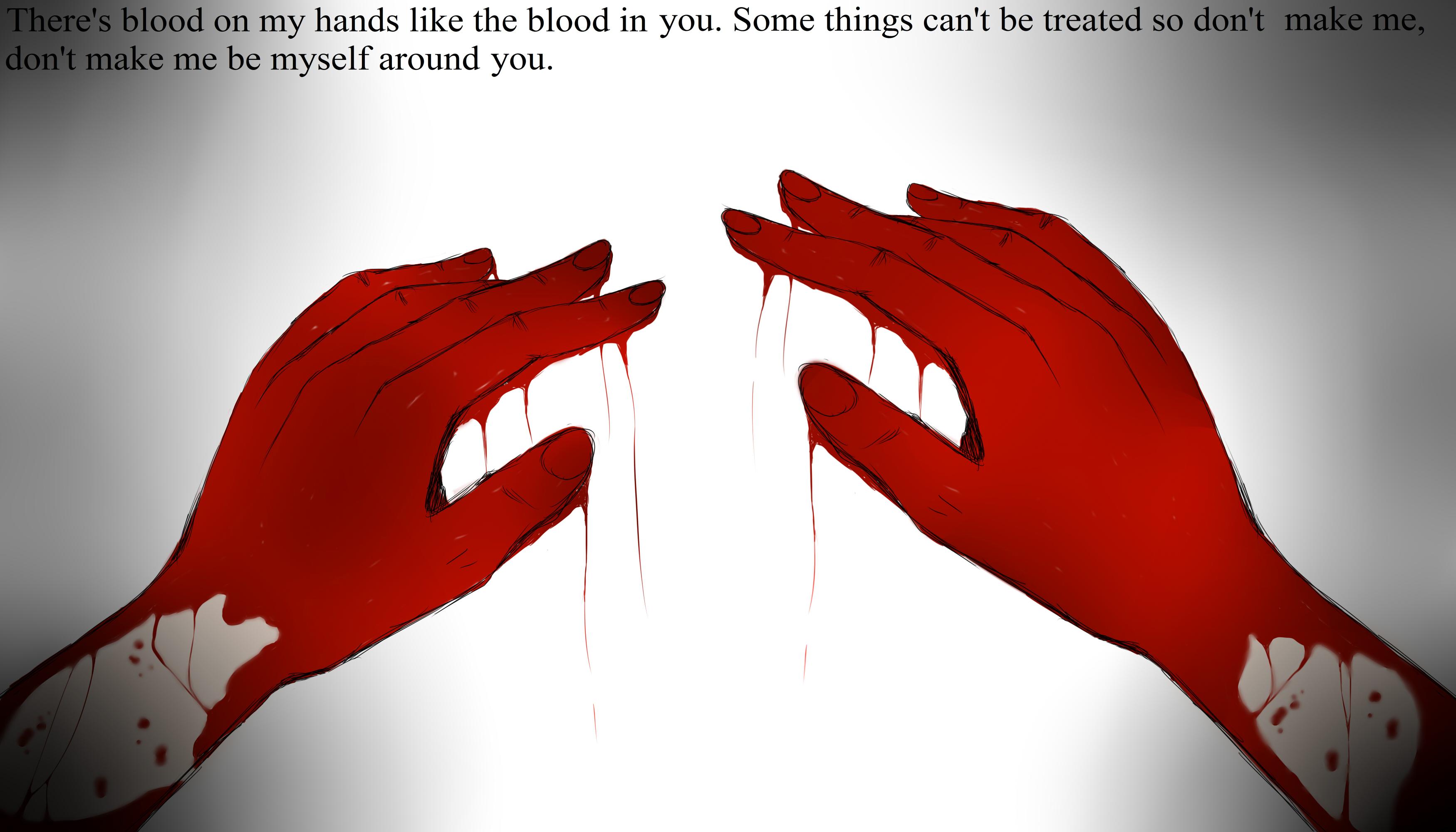 Blood on my hands by Zorocat on DeviantArt