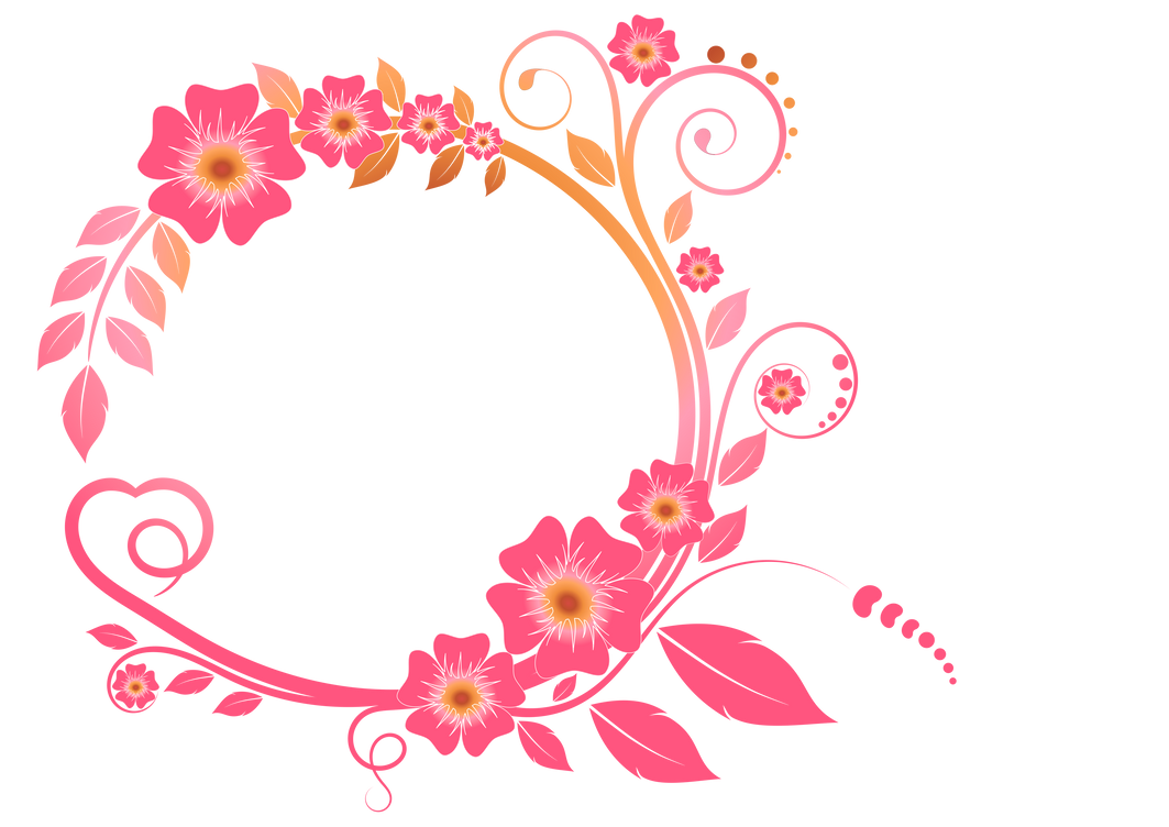 Colored flower frame by NatasaSusa on DeviantArt