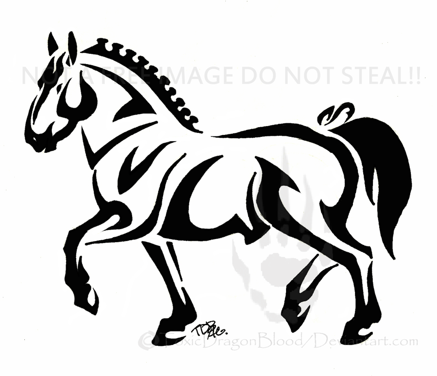 Draft horse tattoo by ToxicDragonBlood on DeviantArt