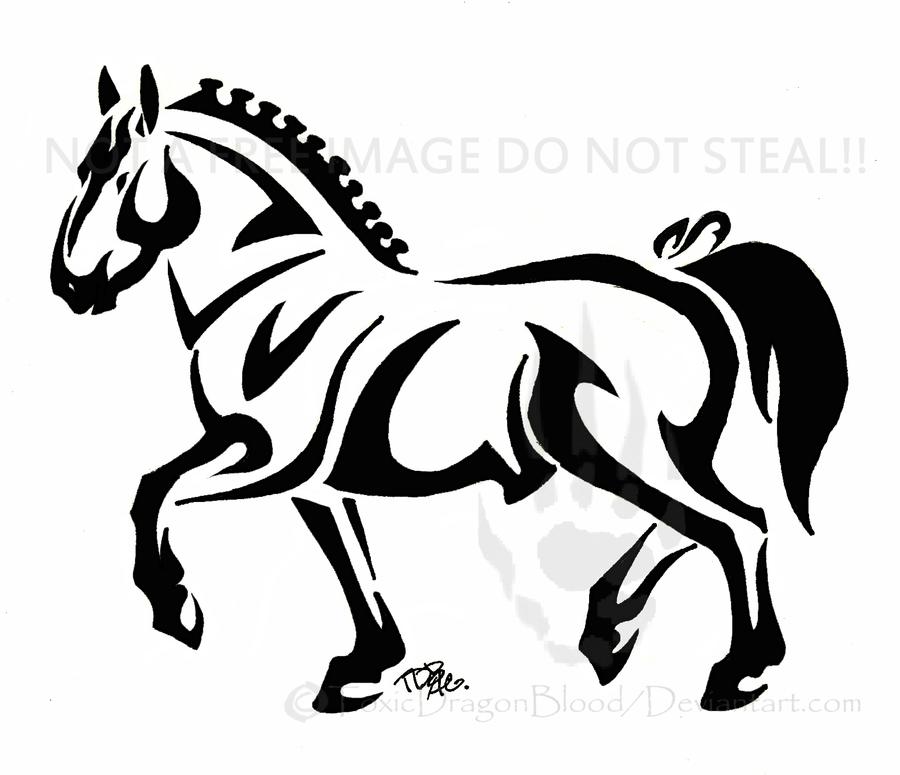 Draft horse tattoo by ToxicDragonBlood on DeviantArt