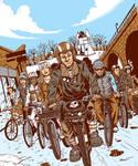 Bike Messengers by Schoonz