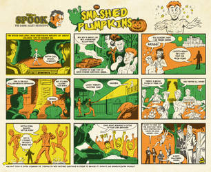 Mr. Murder is Dead Halloween Special Comic Strip by Schoonz