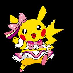 Pikachu Pop Star Pixel Art by KoreyRiera
