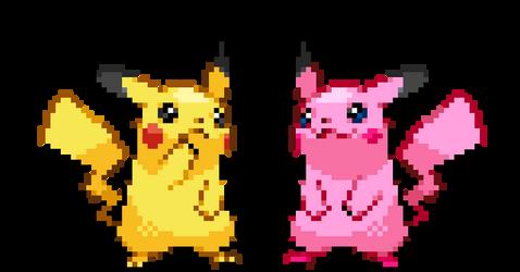 Pikachu As Kirby by KoreyRiera