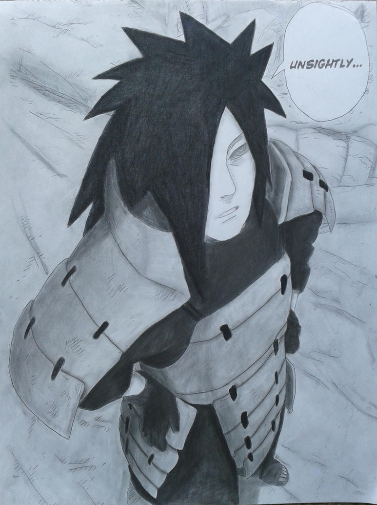 Madara Drawing In Pencil This Is Unsightly - Madara
