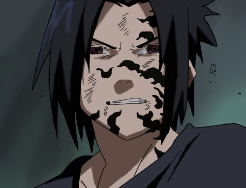 Sasuke Uchiha curse seal, color - request by JamesUchiha ...