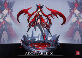 ADOPTABLE 10 [OPEN ] : Devil of Rose by XROZZAM