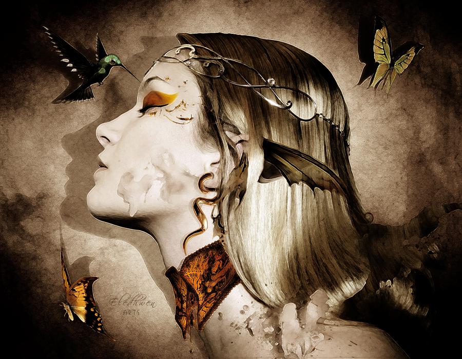 Sun Elf Portrait by Eledhwen-Arts