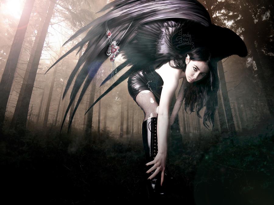 Black Angel by Eledhwen-Arts