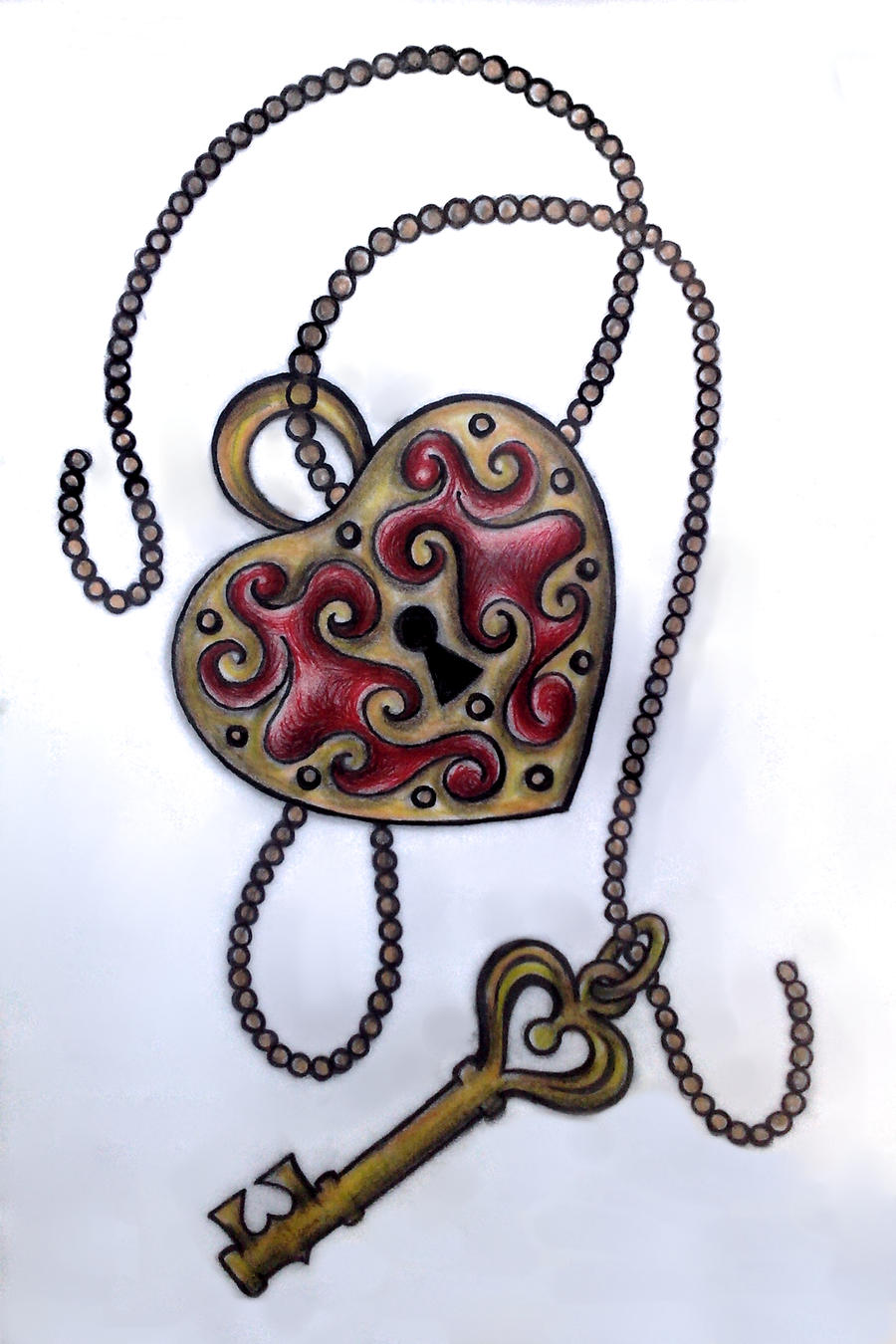 Heart Lock With Key Heart Lock Drawing At Getdrawings Com Free For