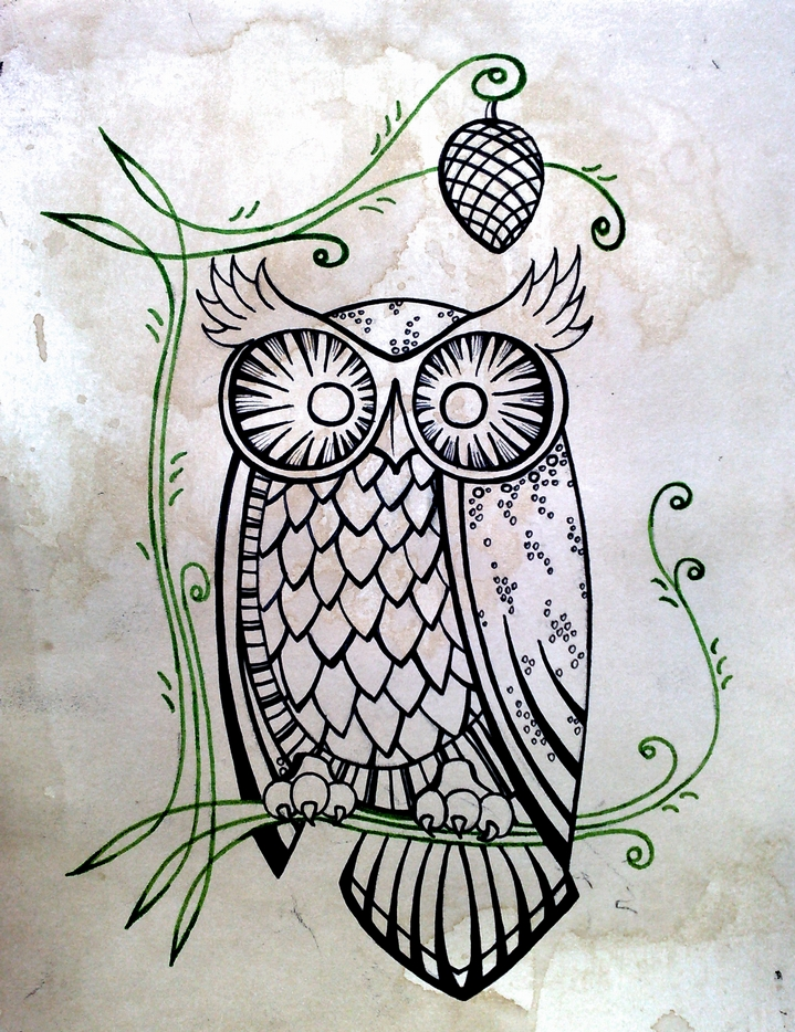 Owly before colouring by eatmysik
