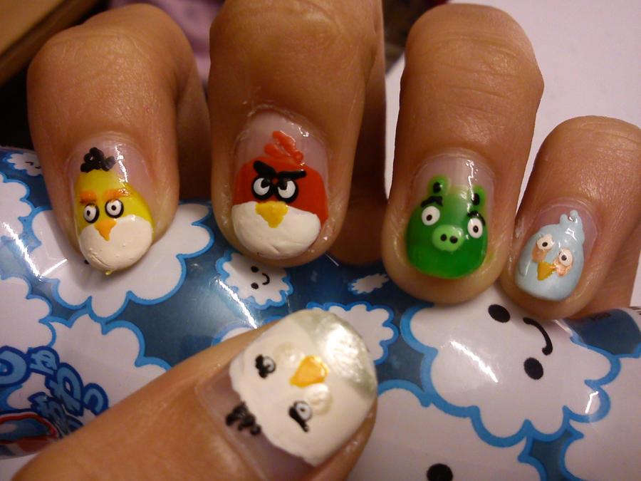 Angry Birds Nail Art by Himeno-Bara on DeviantArt