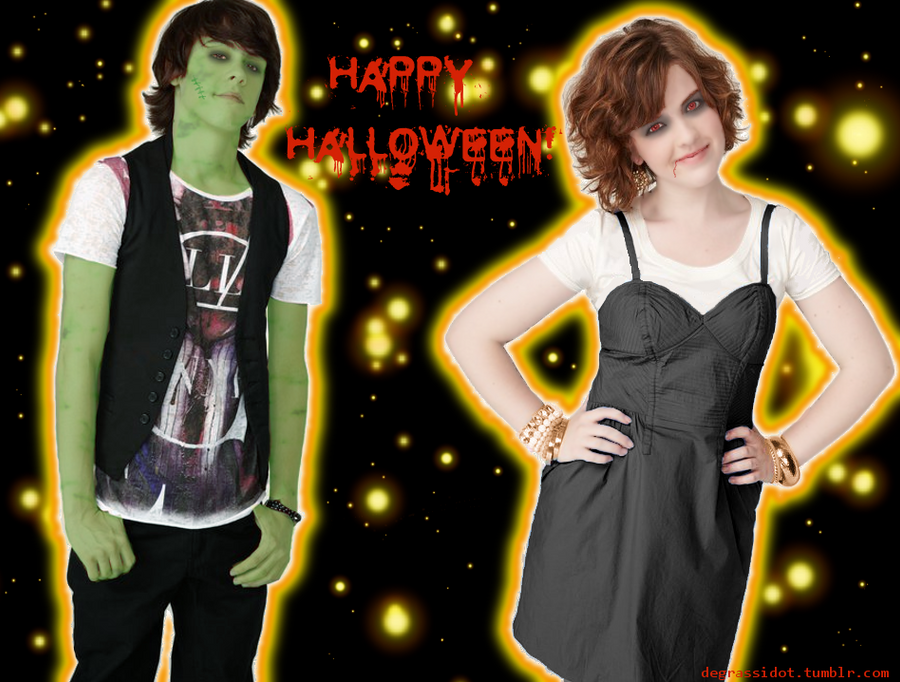 Eclare Halloween Wallpaper by miinyuu