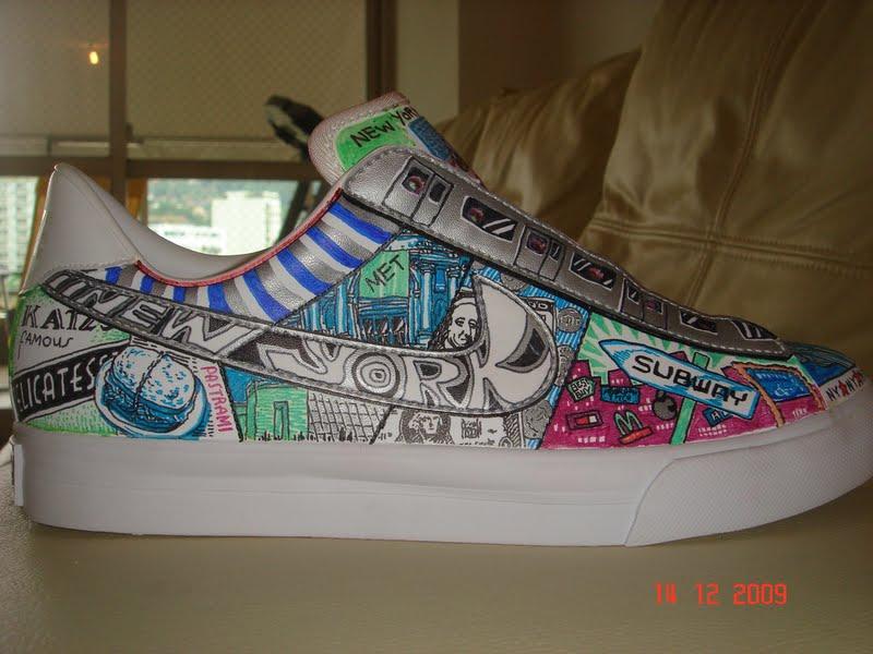 Custom Hand-painted shoe by asakitay
