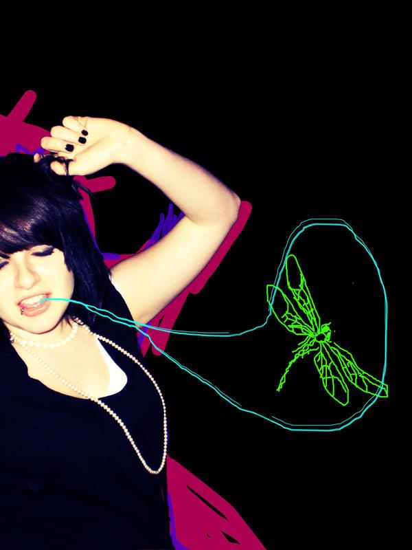 bunter Libellenfirlefanz. - dragonfly tattoo