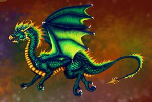 Green dragon digital by dianadragon