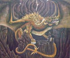 Cave dragon by dianadragon