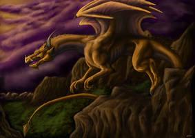 gold dragon by dianadragon