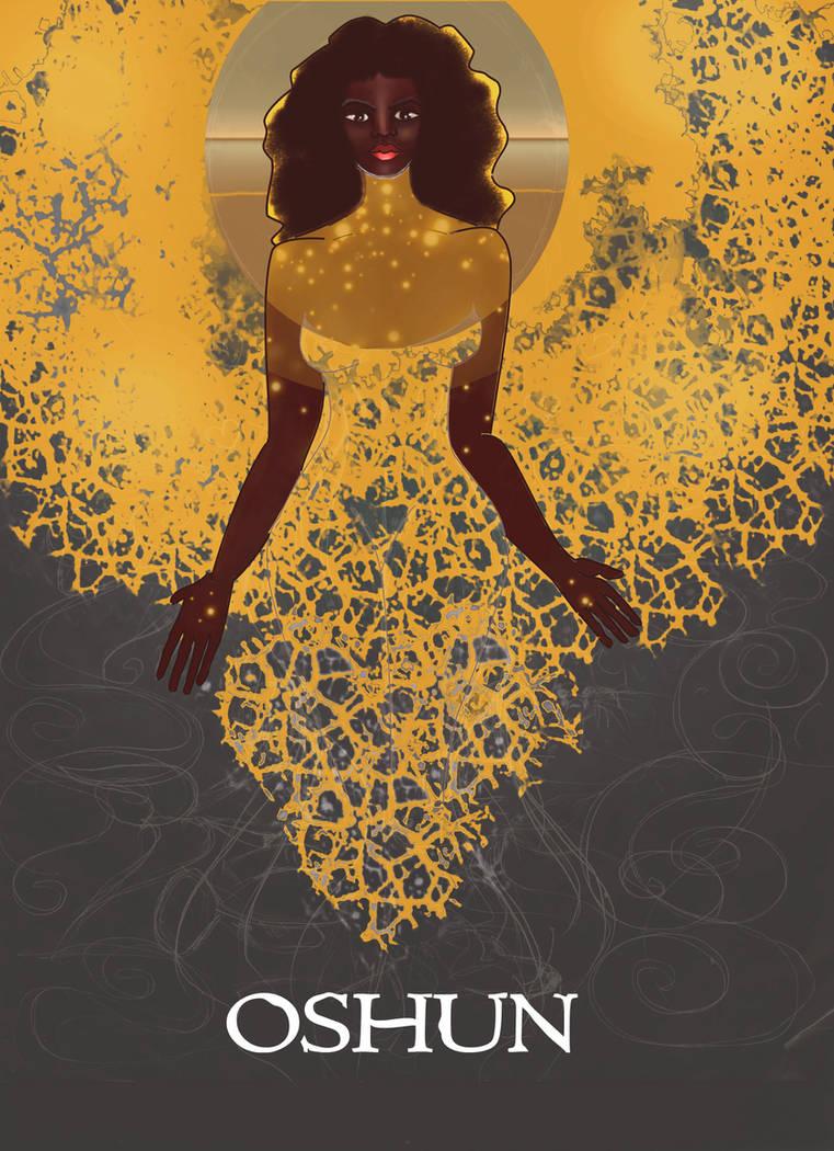 Black Goddess Orisha Oshun by numythology ...
