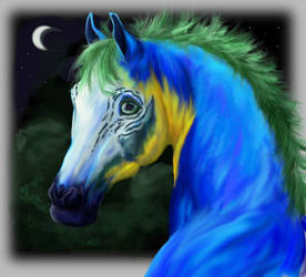 Macaw Horse WIP by vixentheangryfox
