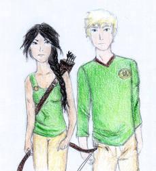 Katniss and Peeta by LedyPotter97