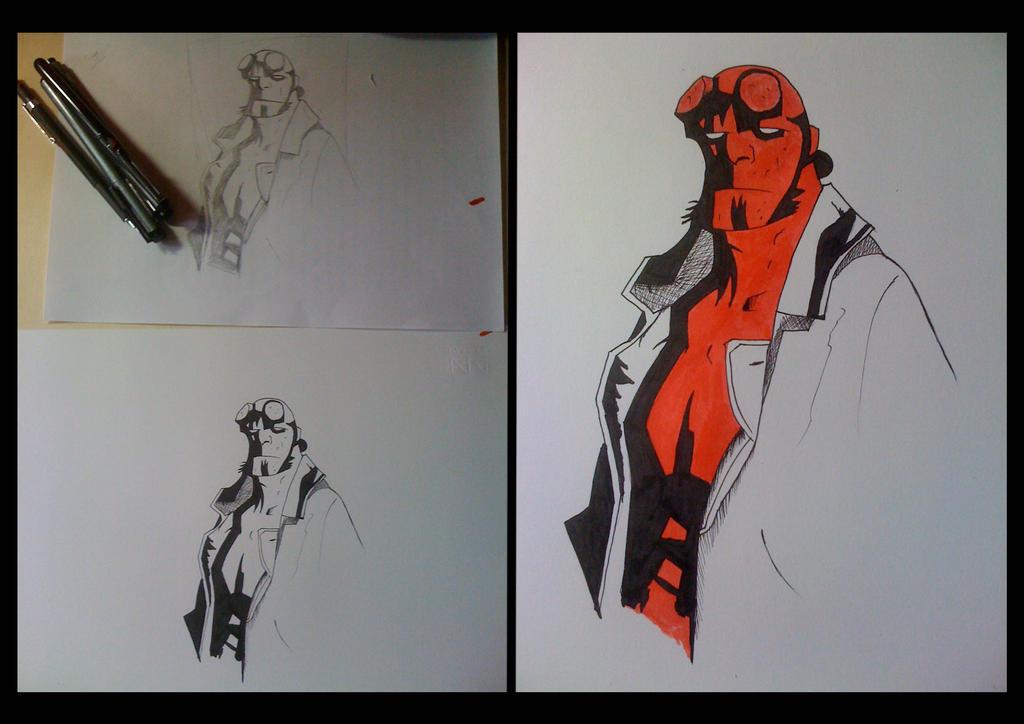 Hellboy by Bearded-Manatee