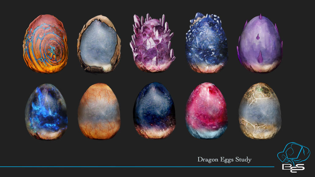 Dragon Eggs by Bearded-Manatee
