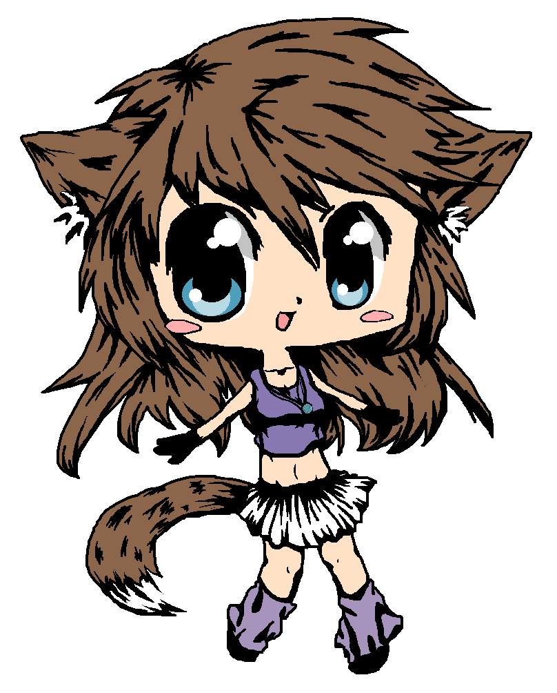 chibi wolf girl by OperaHouseGhost on DeviantArt