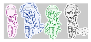 P2U Chibi Anthro/Human Hoodie Base [60 points] by OperaHouseGhost