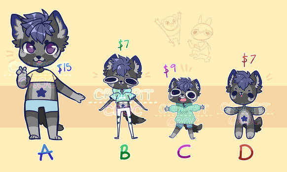 Chibi Commission Examples by CRUMPiT-CROC