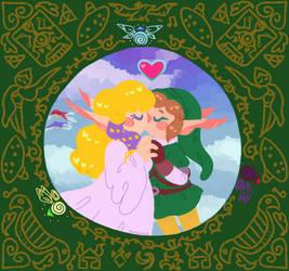 Zelda 34th Anniversary by Zeldyhare