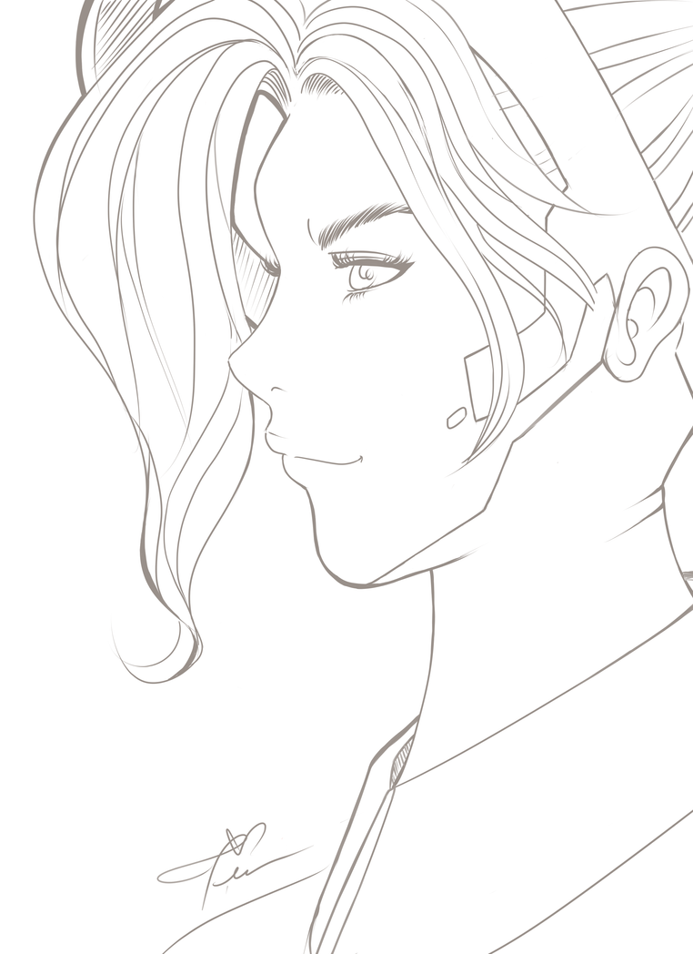 Line Drawing Reddit : Mercy overwatch line art by tinacao on deviantart