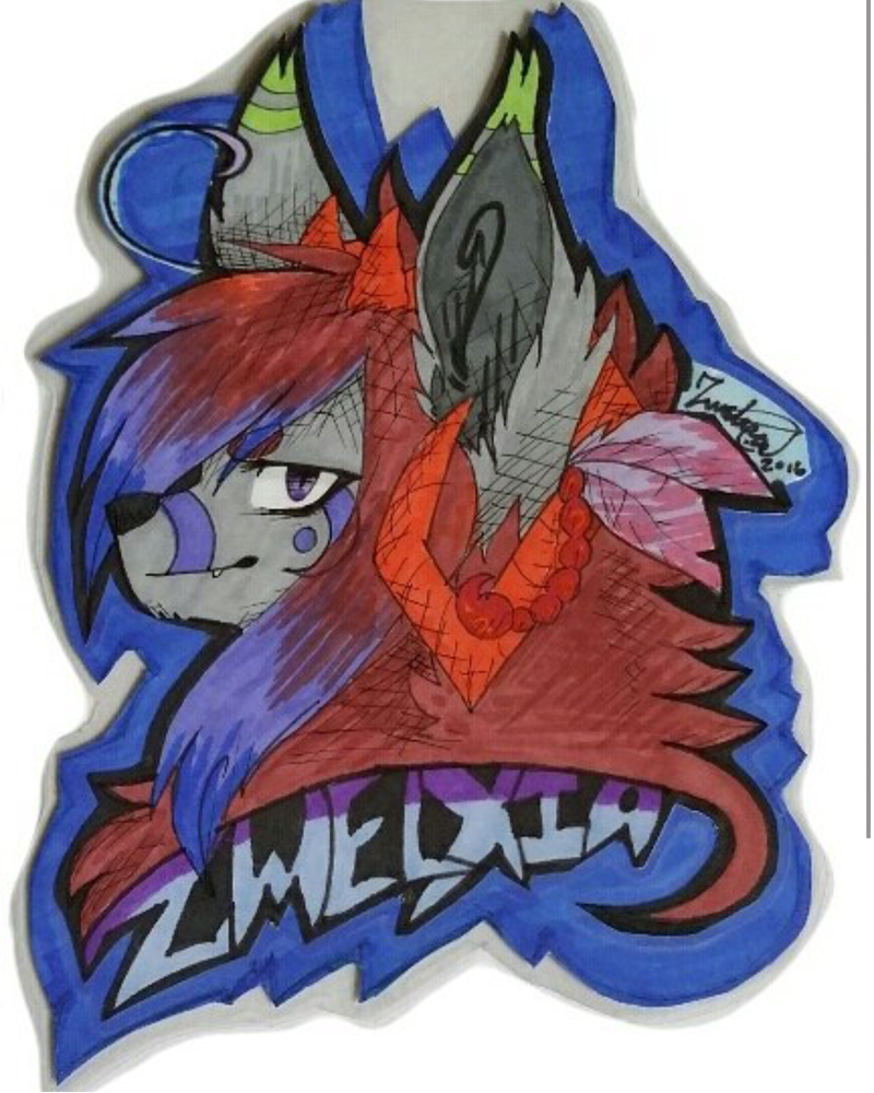 Zwelxia Art Badge (Old) by Zwelx