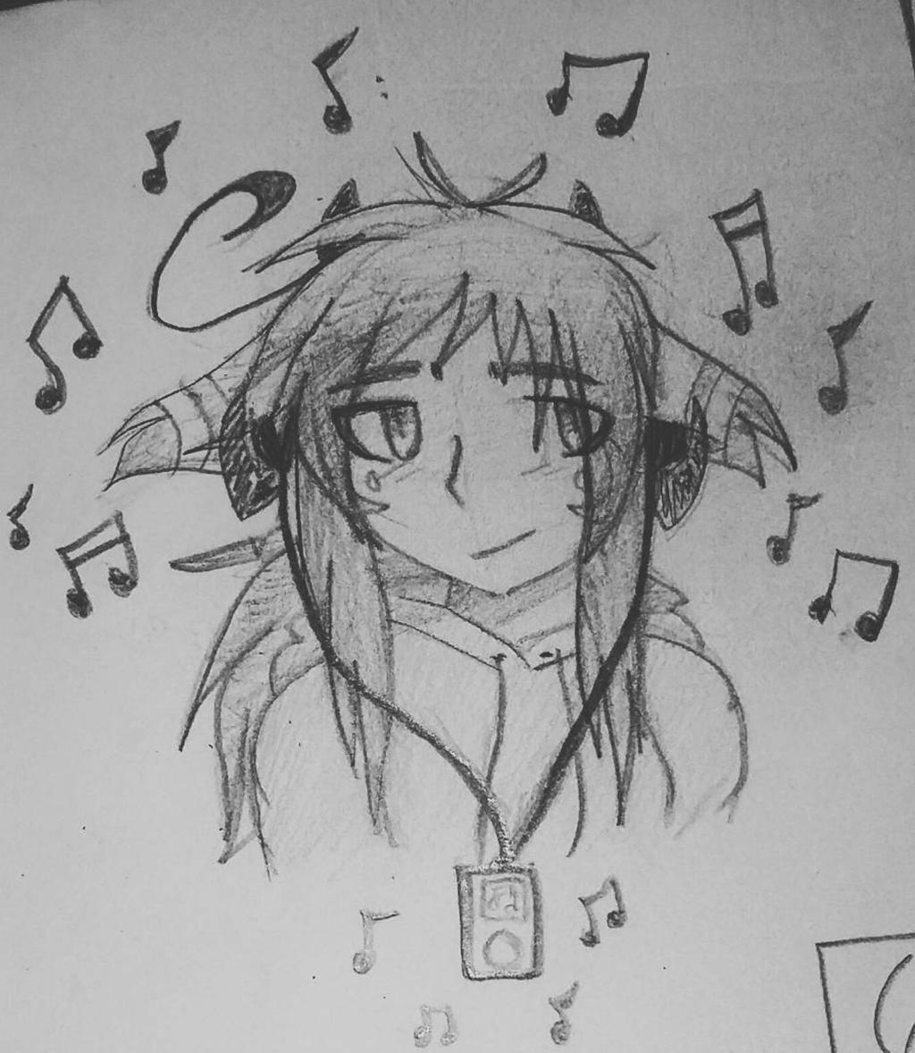Zwelxia Listening to Music by Zwelx