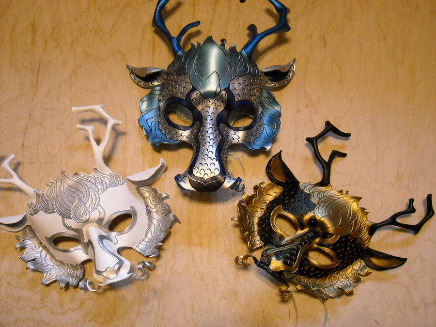 Chinese Dragon Masks by MythicMasks on DeviantArt